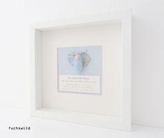 Geschenke zur Geburt, Babygeschenke, Taufgeschenke, Schmetterling blau 1