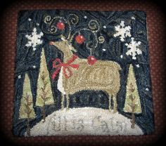 All Is Calm ~a punch needle design by Brenda Gervais