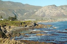 Hermanus, South Africa. That flat area of water is a tidal pool. And I've swum in it- yay!