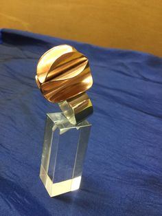 Ring zilver en koper, Esther Booms, gemaakt bij de cursus edelsmeden van Monique Peters