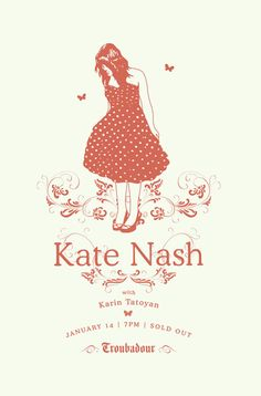 """Dancin at discos eatin cheese on toast yeah you made me merry made me very very happy but you obviously didn't want to stick around..."" Kate Nash"