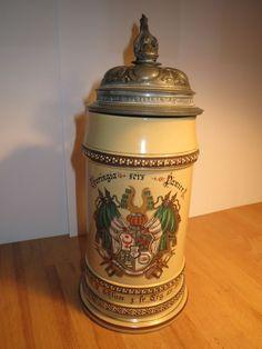 Halle - Turnerschaft Thuringia 1888 Wappen Bierkrug Villeroy & Boch / Studentika | eBay