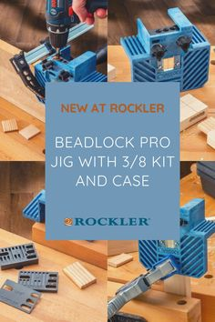Drill specially-shaped mortises to accept Beadlock loose tenons—creates incredibly strong, concealed joints! #CreateWithConfidence #Beadlock #Jig #RocklerInnovations #WoodworkingJig Drill Guide, Woodworking Jigs, Workshop, Diy Projects, Kit, Create, Atelier, Work Shop Garage, Handyman Projects