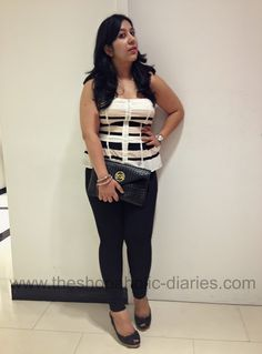 The Shopaholic Diaries - Fashion and Lifestyle Blog !: OOTD - 3 Dressing Styles for Curvy Women - Bebe India !
