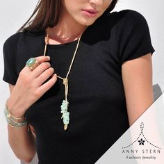 "* YOU MUST ""FALL"" IN LOVE *  Amazonite, Jade and Green Aventurine are the perfect trio on this amazing set! Be ready to express yourself with a fierce and stunning piece of jewelry from ANNY STERN Fashion Jewelry. Our jewelry is designed with semi precious stones and precious metals including sterling silver and 18k gold filled.  >> Have you visited our website today? Fall in love with our collections and exclusive gemstone pieces at www.annystern.com <<  Photo by: Aubrey Chandler…"
