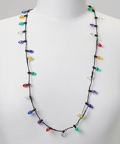 Loving this Christmas Bulb Light-Up Necklace on #zulily! #zulilyfinds