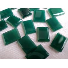 Green Onyx   AAA Rectangular Shaped Green Onyx by gemsforjewels, $21.90