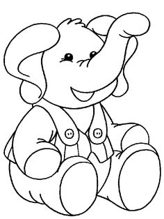 Elephant With Clothing Color Page Animal Coloring Pages For Kids Thousands Of Free Printable