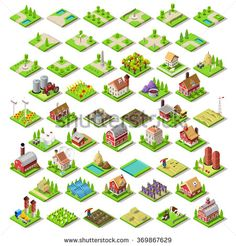 Isometric Building Farming Elements 4 Game Development #gamedev #indiedev #gameinsight #gaming #androidgames #ipadgames #iphonegames http://shutr.bz/2csQwtt