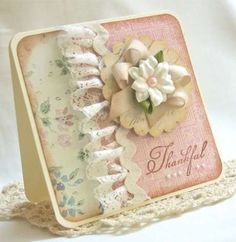 #shabby chic style, #scalloped circle, #flower