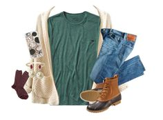"""""""i wish everyday had fall weather"""" by abby14310 ❤ liked on Polyvore featuring Patagonia, J.Crew, Casetify, Kendra Scott, AG Adriano Goldschmied, Carolee and L.L.Bean"""