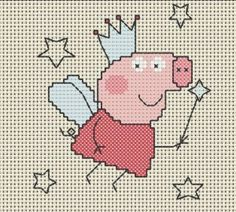 Vários gráficos dos personagens da Peppa Pig em Ponto Cruz :D