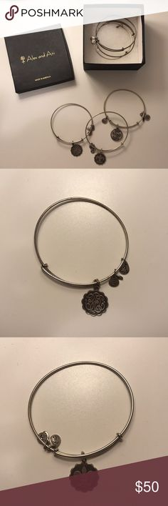Alex and Ani Set of Silver Bracelets Set of six silver Alex and Ani bracelets. Willing to sell as a set for the price listed, or individually. Alex and Ani Jewelry Bracelets