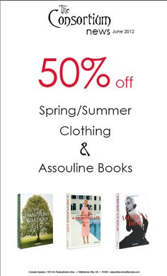 Consortium Casady Square 50% off sale!  Extra 10% off if you mention the DAILY NOSEY PARKER!