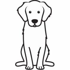 Golden Retriever Dog Cartoon Photo Sculpture