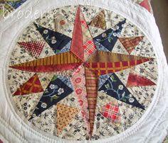 an original trish harper circle Circle Quilts, Strip Quilts, Hexagon Quilt, Quilt Block Patterns, Mini Quilts, Pattern Blocks, Square Quilt, Quilt Blocks, Quilting Projects