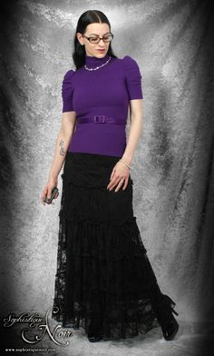 Purple + black lace, with or without that belt – Sophistique Noir