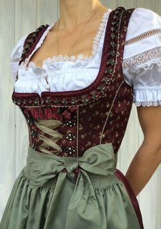 Elegant Dirndl for any festivity Bavarian style Vintage Dresses, Vintage Outfits, Vintage Fashion, Vinyl Pants, Dirndl Outfit, Drindl Dress, Oktoberfest Outfit, Cool Outfits, Fashion Outfits