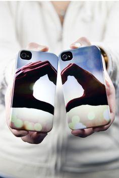 Handycover bedrucken bei Pixum und Herz zeigen! #paar #handy #smartphone #cover #hülle