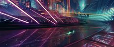 "On my way – by Bastien Grivet ""A Tron's style scene inspired by the colors of NERVE movie! View Original Source Here Drones, Nerve Movie, Words Wallpaper, 1080p Wallpaper, Wallpaper Pictures, Wallpaper Desktop, Galaxy Wallpaper, A State Of Trance, Futuristic City"