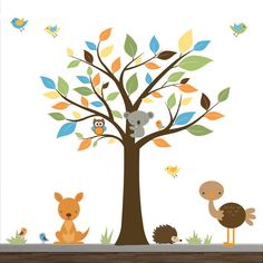 Vinyl Wall Decal Sticker Decals Forest with Animals by Modernwalls, $149.00 https://www.etsy.com/shop/Modernwalls