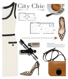 """City Chic"" by pattykake ❤ liked on Polyvore featuring Gianvito Rossi, Marni, Moschino and KAROLINA"