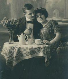 Tea and Love  - 1910s German Postcard