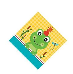 Frog Pond Fun Beverage Napkins (18)  The whole Frog Pond Fun range is just SO cute!