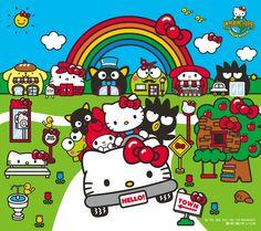 #Sanrio wallpaper_201607_05.jpg 1,440×1,280 pixels (((o(*゚▽゚*)o))) Hello Kitty car ^^