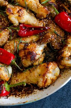 Honey Sesame Chicken Wings