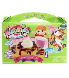 The Wonderful Waffles Maker includes everything you need to create berry delicious mini waffles with fluffy whipped cream, syrup and a tasty smoothie. Kit includes 1 kitchen magic tray, 1 instruction