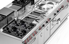 70cm deep, extreme modularity Gamma is a 70cm-deep compact kitchen offering superior performance and extreme modularity, available in over 140 models. Angelo Po cooking equipment is the only type available on the market to have attained a CSQA hygienic design certification; thanks to its design and structural features, cleaning times and chemical use are reduced by 20%.