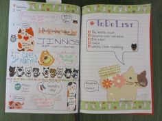 my faux filofax- week 36 (cats)