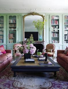 Traditional Living Room by Jacques Garcia in Paris, France