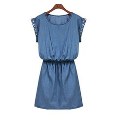 Studed Denim Dress