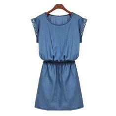 Studed Denim Dress