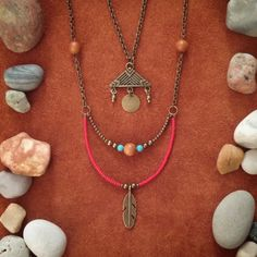 Grounded // Feather Necklace // Native American // by BohoTribeCo
