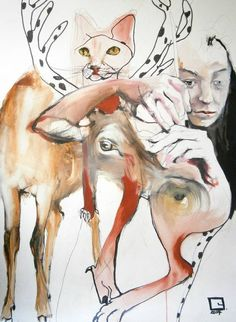 View Olga Gál's Artwork on Saatchi Art. Find art for sale at great prices from artists including Paintings, Photography, Sculpture, and Prints by Top Emerging Artists like Olga Gál. Oil Painting On Paper, Paper Art, Ap Drawing, Original Paintings, Original Art, Ap Studio Art, Principles Of Art, Unusual Animals, Surreal Art
