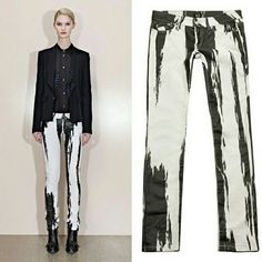 "Alexander McQueen Painted Skinny Jeans Great condition. Waist is approx. 14.5"" flat across. Inseam is 30"". Alexander McQueen Jeans Skinny"