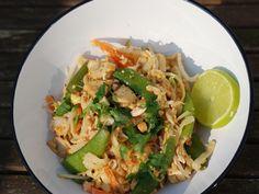 Snelle vegetarische Pad Thai