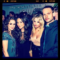 The crew... couldn't ask for better ladies & Patrick of course :) #charliesangels #PllWrapParty - @shaym- #webstagram