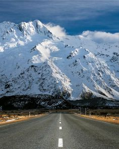 The road to Mount Cook.  *Photo by Daniel Murray and used on Canterbury Weather Facebook page.