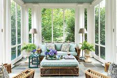 Breezy Porches and Patios. Elegant Colonial Porch