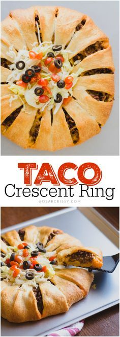 Taco Crescent Ring - This is such an easy and delicious family meal idea featuring Pillsbury Crescents. It's warm, filling and so very flavorful. My kids love it when I make this taco crescent ring for dinner!