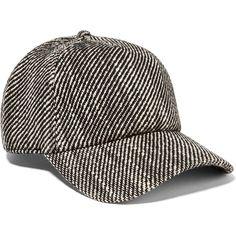 Rag & boneMarilyn Tweed Cap (€120) ❤ liked on Polyvore featuring accessories, hats, black, ball cap hats, tweed baseball cap, adjustable hats, print hats and graphic hats