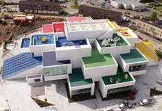 After four years of construction, Denmark's colorful LEGO House has finally been unveiled to the public in the company's native land of Billund. The building, designed by the Copenhagen and New York-based design firm Bjarke Ingels Group (BIG), is composed of 21 large, white cubes which each contain