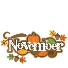November Title SVG scrapbook cut file cute clipart files for silhouette cricut pazzles free svgs free svg cuts cute cut files