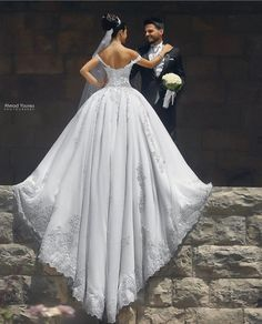 wedding dress bride with groom train ahmad younes Wedding Dresses Photos, Wedding Poses, Wedding Photoshoot, Wedding Attire, Wedding Portraits, Wedding Bride, Bridal Dresses, Dream Wedding, Gown Wedding