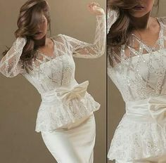 badroun Lace Dress Styles, Sleeves Designs For Dresses, Colored Wedding Dresses, Bridal Dresses, Latest African Fashion Dresses, Hot Dress, African Dress, Traditional Dresses, Ideias Fashion