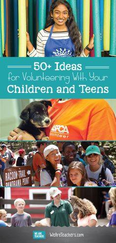 Volunteering With Children & Teens Near Me – 50 Ideas by State Service Projects For Kids, Community Service Projects, Service Ideas, Teen Volunteer, Volunteer Jobs, Volunteering With Children, Jobs For Teens, We Are Teachers, Kids Daycare